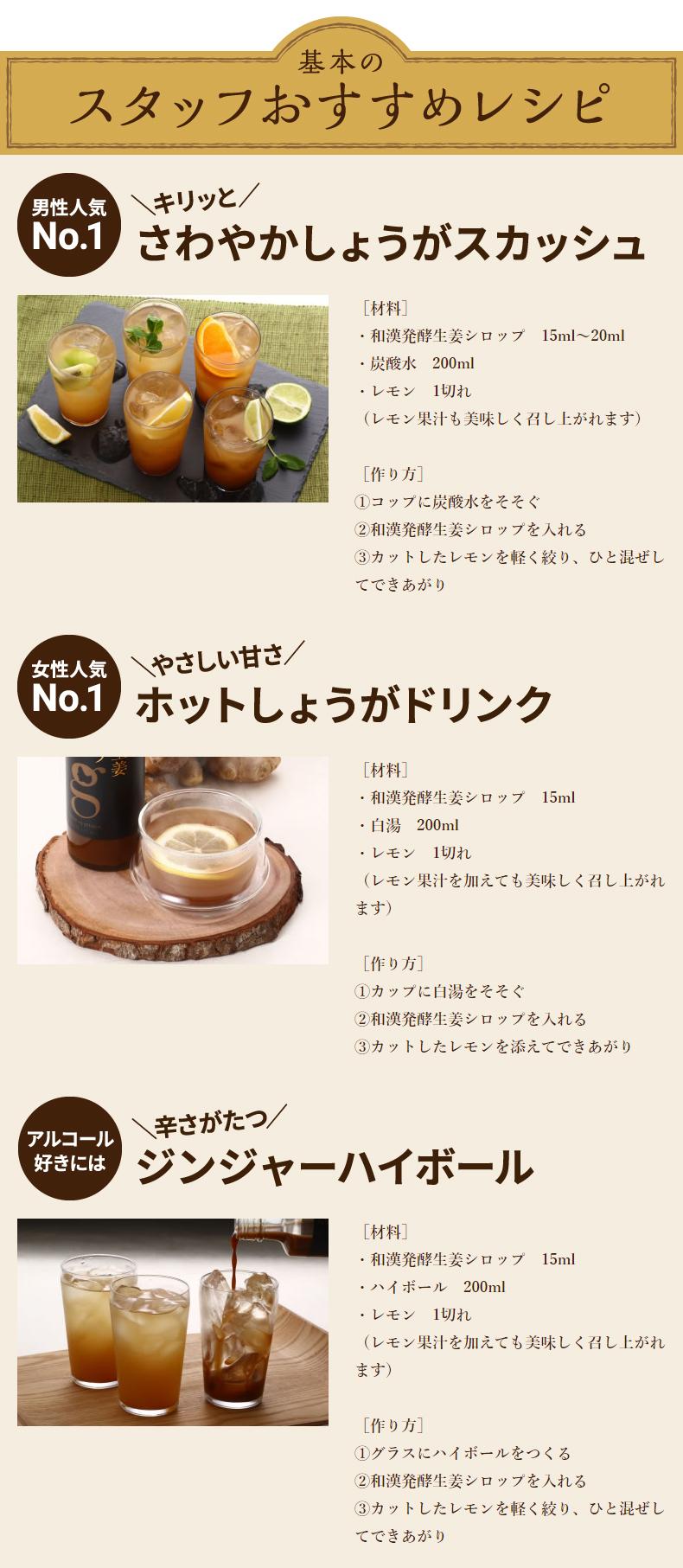 和漢発酵生姜シロップレシピ