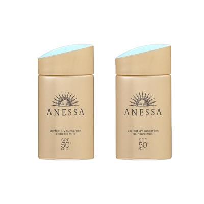 【セット】資生堂 アネッサ ANESSA パーフェクトUV スキンケアミルク SPF50+/PA++++ 60mL 2個セット 美容液・ジェル