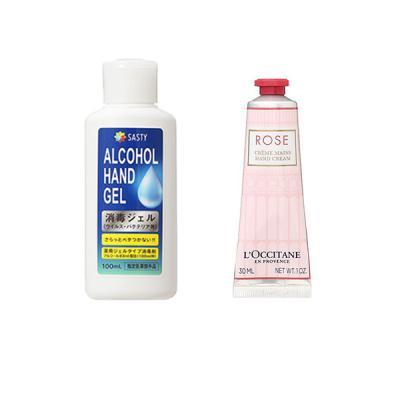 【セット】ロクシタン LOCCITANE ローズ ハンドクリーム 30mL + 薬用ハンドジェル 100mL セット・コフレ